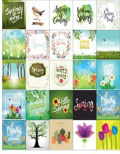 spring printable planner stickers tulips, green shoots, spring motivation, greans and warm pastels
