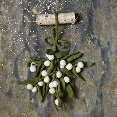 mistletoe - felted/felt - stocking stuffer - West Elm - Christmas