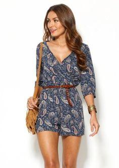 Krátky overal s kašmírovým vzorom Shops, Moda Boho, Boho Fashion, Overalls, Bohemian, Rompers, Chic, Boho Style, Clothes