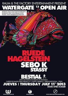 Watergate Open Air | Bestial Beach | Barcelona | https://beatguide.me/barcelona/event/bestial-beach-club-watergate-open-air-20130711