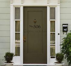 Address Number Door or Mailbox Vinyl Decal