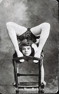 May Wirth (1894-1978),  A performer with Wirth Bros. circus in 1911; also engaged by John Ringling for two seasons to tour with his Barnum & Bailey circus. Born May Zinga, she was adopted by the sister of Phillip and George Wirth, Marizles Wirth, who later married John Martin. May Wirth is regarded as one of the greatest female acrobats on horseback of all times.