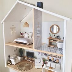 Just somewhere to hang your mini hat 🏡 #dollhousereno #dollhouserenovation #modernminiatures #moderndollhouse #dollhouse