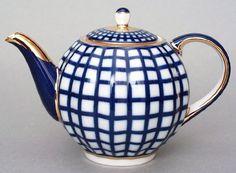 Lomonosov Porcelain 3 Cups Tea Pot 20 ml Cobalt Cell Teapots And Cups, Teacups, Cobalt, Olive Oil Bottles, Tea Tins, Tea Pot Set, Blue And White China, Petersburg Russia, Saint Petersburg
