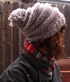 Bicycle wheels hat, a free pattern pdf.  Hat made using Lion Brand's Wool-Ease Thick & Quick yarn.  A soft, warm and chunky yarn perfect for quick crafting!
