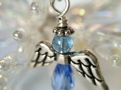 Angel Earrings Periwinkle Blue made with love xx by CharmingDeva Inspired By Charm, Angel Earrings, Periwinkle Blue, Jewellery Designs, Belly Button Rings, Trending Outfits, Unique Jewelry, Handmade Gifts, Inspiration