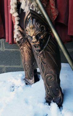 Antique warrior leg armor LARP and Cosplay greaves Prop Medieval Knight, Medieval Armor, Medieval Fantasy, Larp Armor, Sith Armor, Daedric Armor, Viking Armor, Mandalorian Armor, Roman Armor