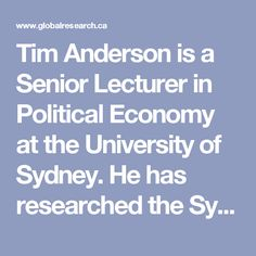 Podiatry political economy university of sydney