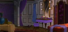 Animation Backgrounds: RESCUERS: Medusa's Shipboard Suite