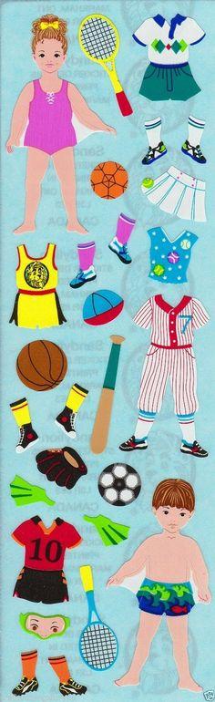 Vintage Sandylion RARE Paper Dolls Cloths Scrapbooking Stickers G127 | eBay