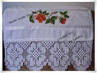 Crochet'Art - Crochê, Trico e Bordados: Toalhas de rosto