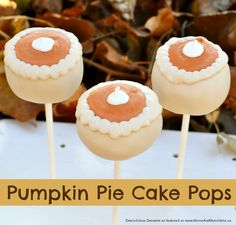 Pumpkin Pie Cake Pops - a fun cake pop decorating tutorial perfect for…