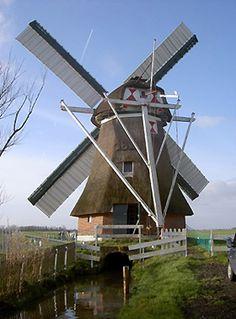 Polder mill Westerhornermolen, Grijpskerk, the Netherlands