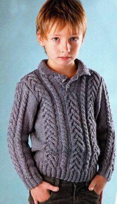 Джемпер с косами для мальчика