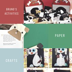 Bruno Activities: Paper Crafts - Arts And Crafts, Paper Crafts, Blue Dog, Numeracy, Tours, Concept, Activities, Tissue Paper Crafts, Gift Crafts