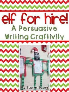 Santa is hiring new elves in his workshop! Your students need to persuade Santa to hire them and let him know why they are the best elf for the job! This fun and cute craftivity is sure to keep your students' attention before Christmas break while they practice persuasive writing.