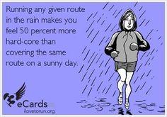 So true! #running #funny #rain
