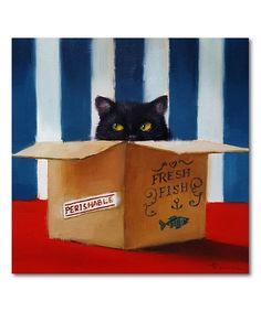 Courtside Market Cat Burglar Wrapped Canvas | zulily