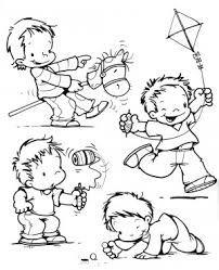 Resultado De Imagen Para Dibujos De Niño Jugando En El Campo Para