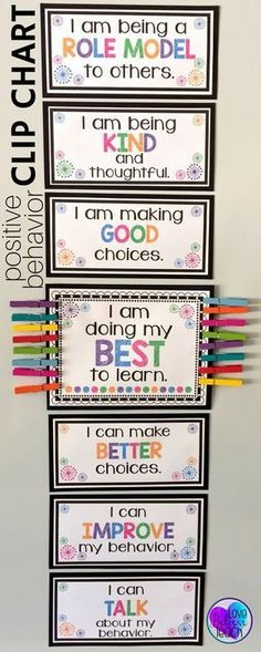 A clip chart with a twist! Behavior management is a snap with this behavior chart. Whole-class and individual clip charts mixed with brag tags make your classroom management easy to maintain day after day. Click Read more… Classroom Behavior Management, Behaviour Management, Behaviour Chart Classroom, Behavior Plans, Positive Behavior Chart, Classroom Charts, Behavior Chart Preschool, Behavior Chart For Preschoolers, Classroom Discipline