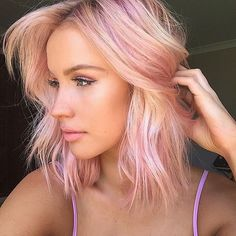 Upgrade your blonde beach waves by dying your locks to Pantone's Color of the Year — Rose Quartz.