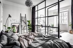 A small & dreamy Scandinavian apartment with a glass wall | Daily Dream Decor | Bloglovin'