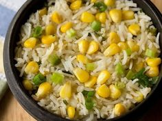 Corn Fried Rice Recipe with step by step pics. Homely, easy and delicious fried rice made with sweet corn, spring onions, capsicum and herbs+spices. Cooked Rice Recipes, Leftover Rice Recipes, Basmati Rice Recipes, Leftovers Recipes, Vegetarian Recipes, Cooking Recipes, Rice With Corn, Schezwan Sauce, Pakora Recipes