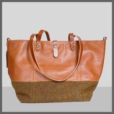 Cabas Tweed & Leather