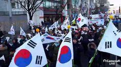 [애국채널snsTV] 탄기국 태극기 애국집회 (9) / 태극기 행진 시작 (snsTV 안중규)