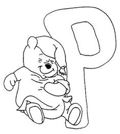 Coloring pages winnie the pooh alphabet 16