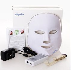 Angel Kiss Brand New 3 Colors LED Mask Skin Care Device Treatment for Acne, Wrinkle, Whitening (Mask+ Portable Function Board)