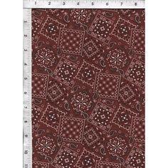 Blazing Bandanna Western Rust Fabric Quilt Cotton Fabric.