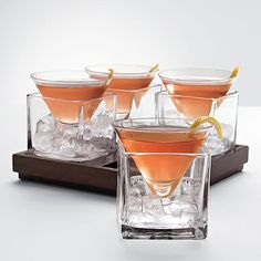 cubist martini set...love these!  Great look and functional, the perfect mix!