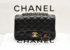 """กระเป๋าสะพาย Chanel Mini 8"""" Black Caviar GHW ของใหม่พร้อมส่ง‼️ - Iris Shop"""