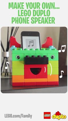 Building an amplifier for your cell phone using LEGO DUPLO bricks is a fun STEM experiment for children, where they can start to learn about sound. Build a box from LEGO DUPLO bricks, turn on some music and hear how the sound gets louder when you put the phone in the box. Make it for yourself today!