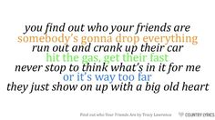 find out who your friends are lyrics - Google Search