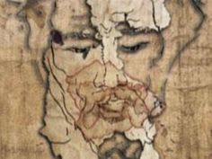 A good sketch of the Sudarium of Oviedo aka Sudario de Oviedo that illustrates the blood and body fluid that came from Christ's face, forehead and nostrils.The Shroud of Oviedo was placed over his face after his death, while he was on the cross.