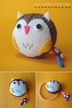 Owl measuring tape - Feltmates on etsy