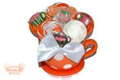 Lollipop Candy Tea Cup Tea Party Centerpiece by EdibleWeddings, $29.99