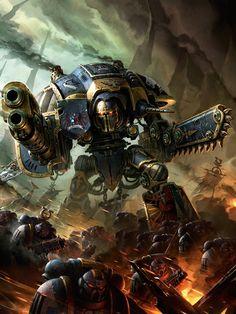 banner battle imperium knights space_marines titan ultramarines