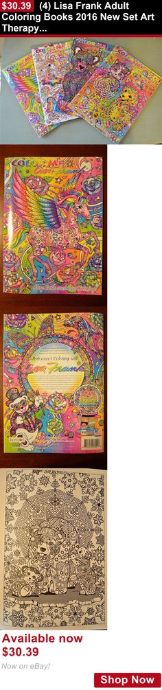 Children And Young Adults: (4) Lisa Frank Adult Coloring Books 2016 New Set Art Therapy Relaxation BUY IT NOW ONLY: $30.39