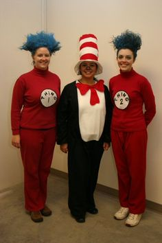 Cat In The Hat #costume #Seuss #Thing 1 thing 2