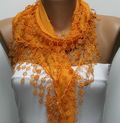 Orange Scarf, $15.00 by Fatwoman ( I luv it soooo much)
