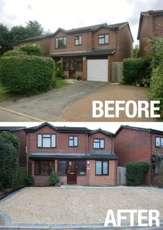 Plenty of parking space was created as the driveway on Becksdale Close property was renovated. What a brilliant transformation, that also enables tenants to park off-street. Photos courtesy of Mike and Clare Hedgecox. #driveway #before #after #transformation