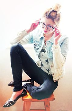Shop this look on Kaleidoscope (jacket, pants, flats)  http://kalei.do/WsIrmuWpIYVHK8bl