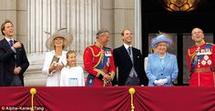 """Ella in 2005 on the balcony at Buckingham Palace for Trooping the Colour with, from left, William, Camilla, Charles, Edward, the Queen and Philip...According to the June 15 edition of GLOBE Magazine, Prince William was so upset that he called Camilla Parker-Bowles and informed her that under no circumstances was she allowed to see Prince George or meet Princess Charlotte. GLOBE's royal insider dished, """"William raged that this was the final nail in Camilla's coffin, and she had humiliated…"""