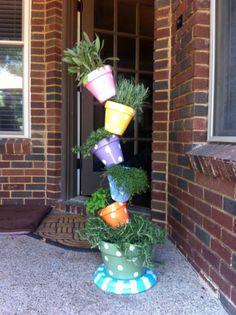 DIY garden tiered planter : DIYTipsy Plant Tower