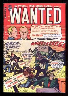 WANTED COMICS 41 7.0 FVF 1951 TOYTOWN PRE-CODE CRIME WHITE PAPER HIGH GRADE