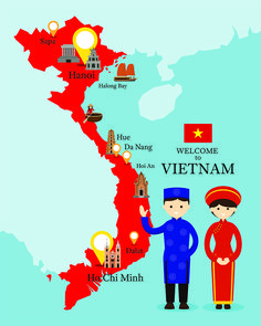Vietnam Map to show you all the top places to visit in Vietnam