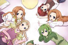 Zelda girls group! | #Zelda, #Malon, Cremia, Romani, Anju, #Saria ... http://pinterest.com/zeldanet/